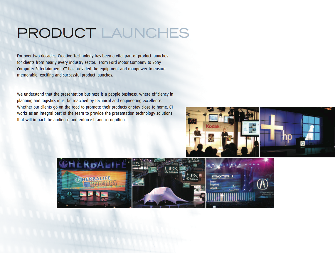 Creative Technologies Brochure