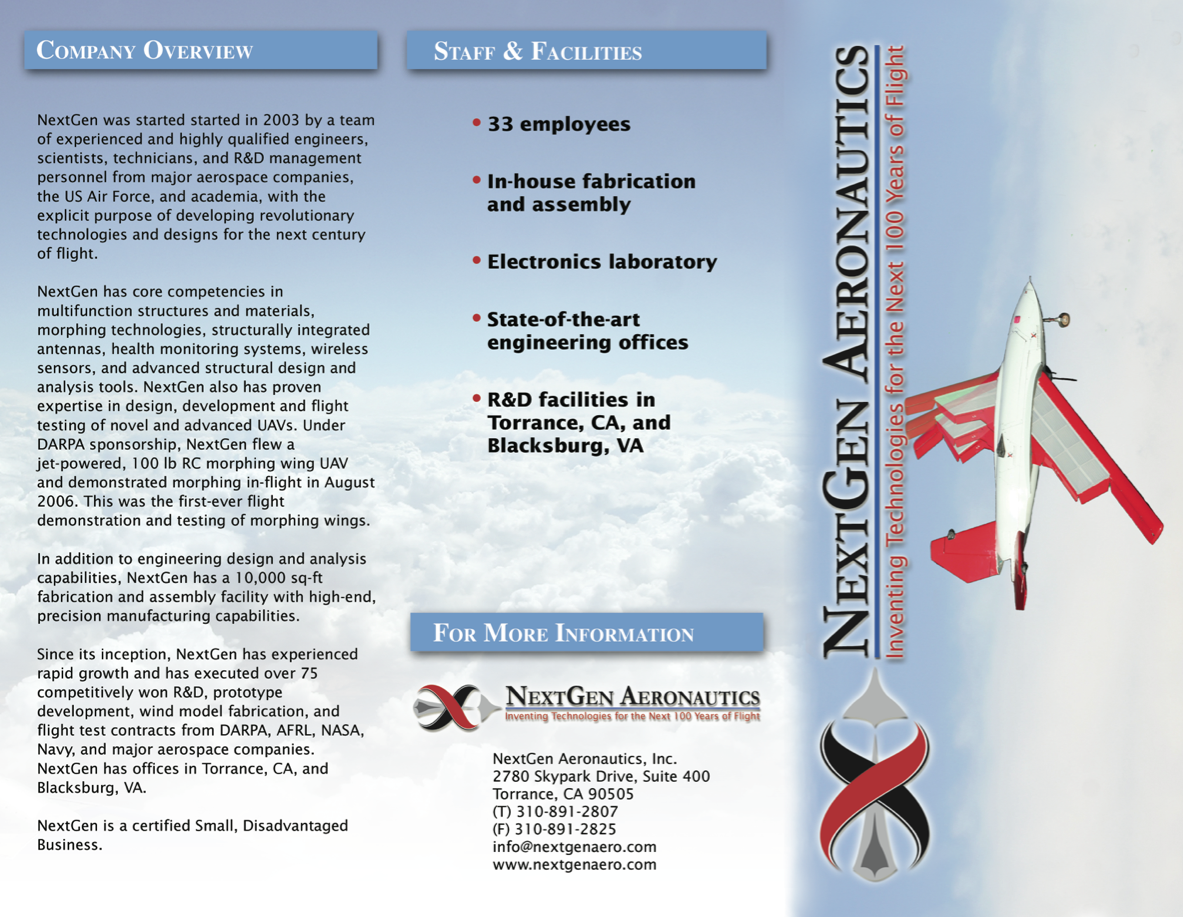 Next Gen Aero Brochure