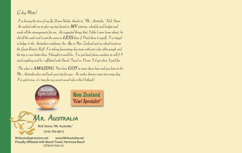 Mr. Australia - back