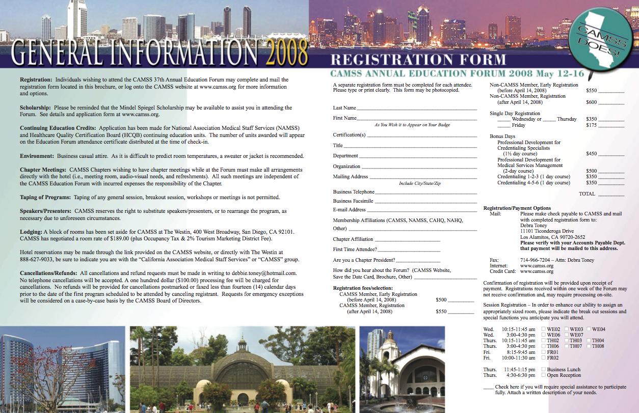 CAMSS Brochure Info