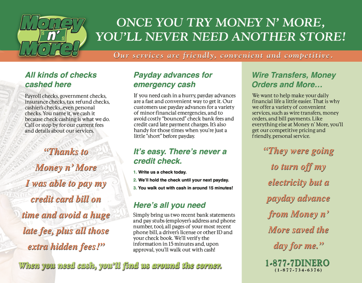 Money and More Brochure
