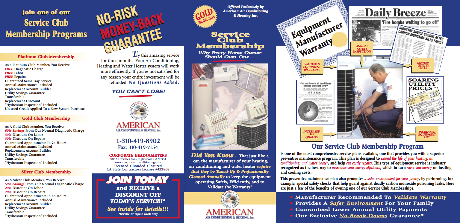 American Air Conditioning Mini Brochure
