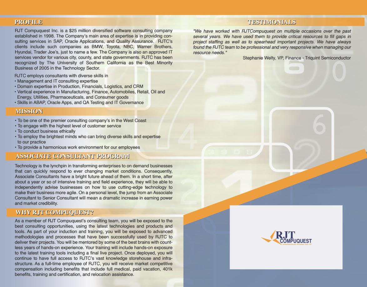 RJT Brochure